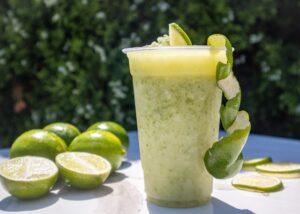 homemade lime lemonade