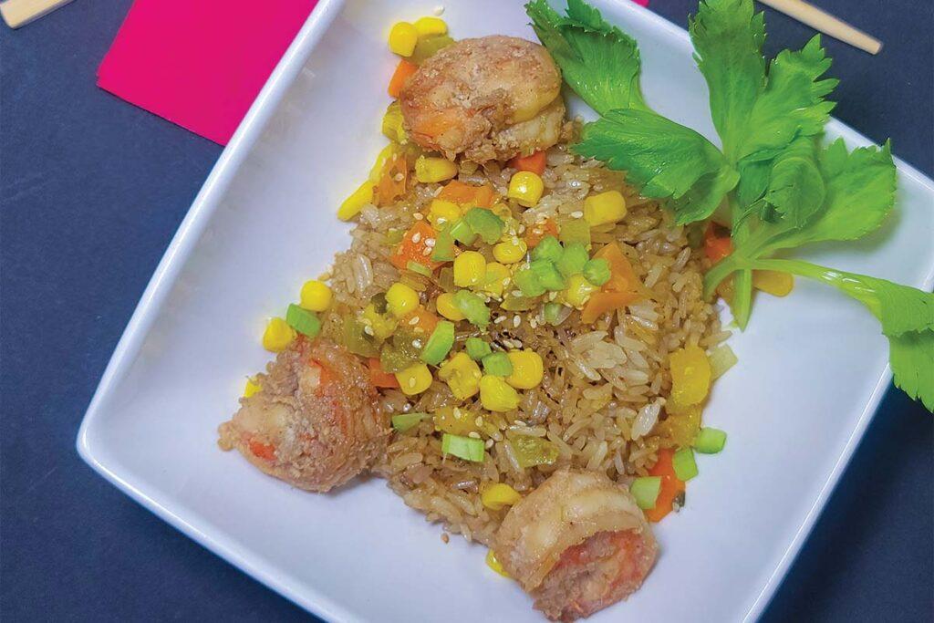 Spanish Food Hibachi shrimp